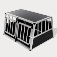 Aluminum Dog cage: Pet Products, Dog Goods Small Double Door Dog Cage With Separate Board 65a 89cm 06-0771 Small Double Door Dog Cage With Separate Board 65a 89cm 06-0771