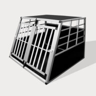 Aluminum Small Double Door Dog cage 89cm 75a 06-0772 Aluminum Small Double Door Dog cage 89cm 75a 06-0772