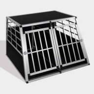 Aluminum Dog cage: Pet Products, Dog Goods Aluminum Dog cage size 104cm Large Double Door Dog cage 65a 06-0775 Aluminum Dog cage size 104cm Large Double Door Dog cage 65a 06-0775