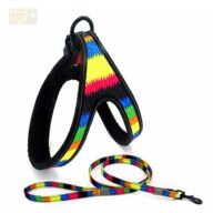 wholesale OEM designers custom printed rainbow dog chest harness 109-0003.jpg